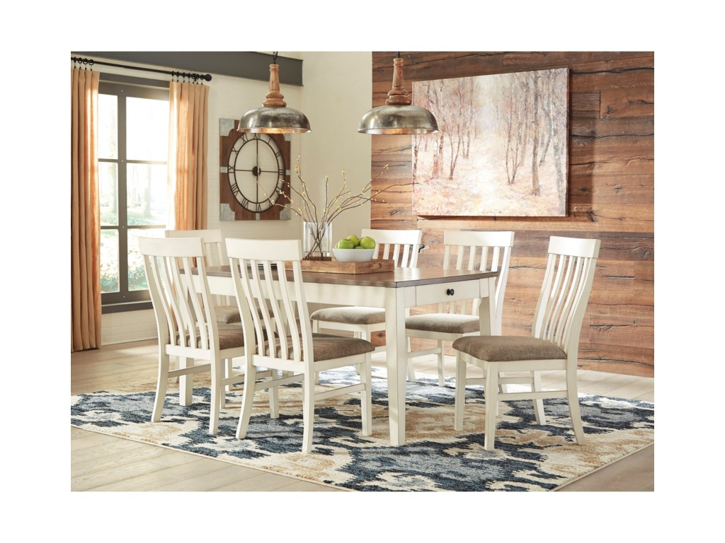 Benchcraft Bardilyn7-Piece Rectangular Dining Table Set