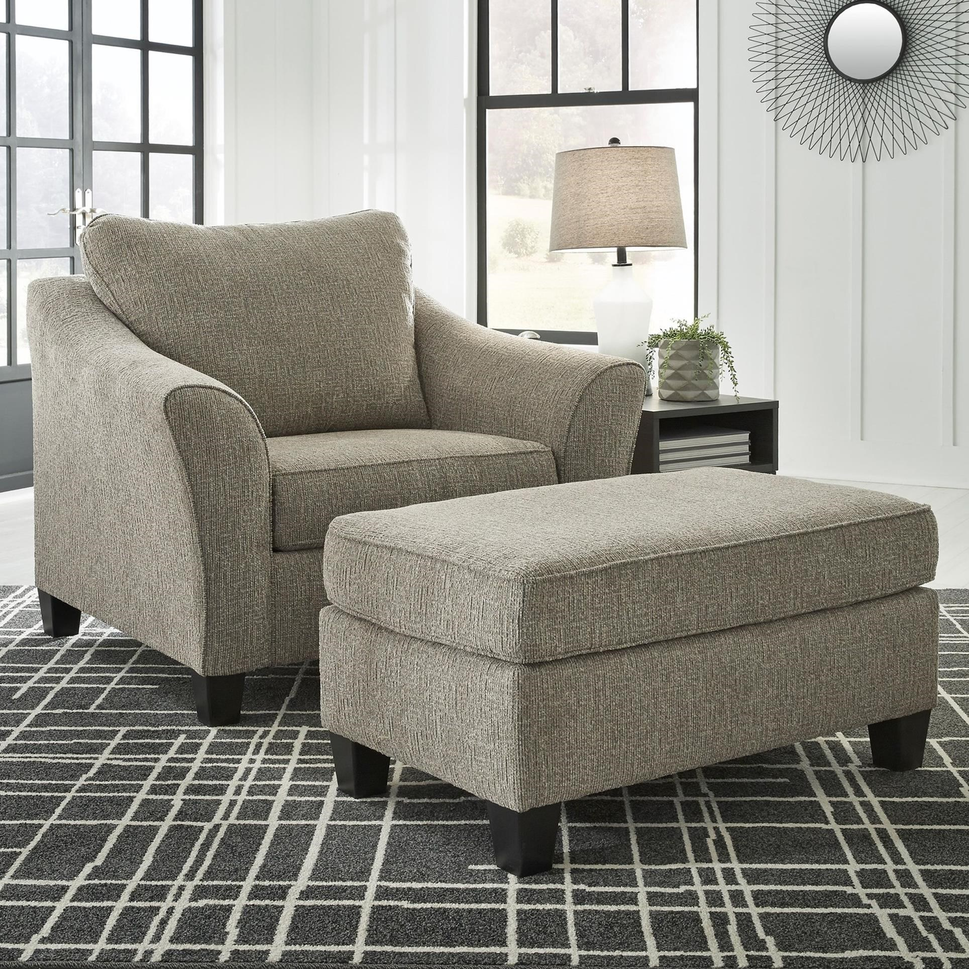 Contemporary Chair and a Half & Ottoman