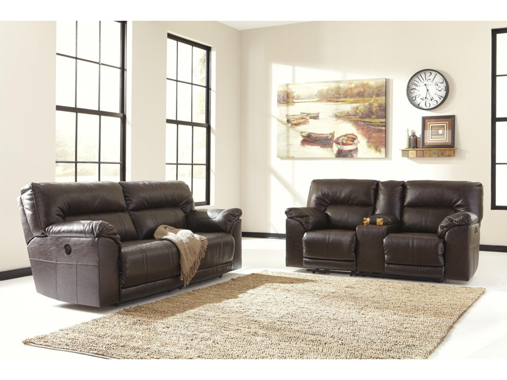 Benchcraft Barrettsville DuraBlend®Reclining Living Room Group