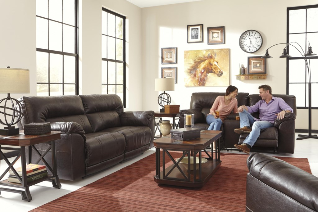 Benchcraft Barrettsville Durablend Reclining Living Room Group