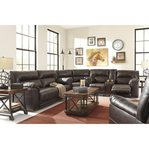 Benchcraft Barrettsville DuraBlend® Reclining Living Room Group