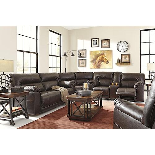 Benchcraft Barrettsville DuraBlend® Reclining Living Room Group