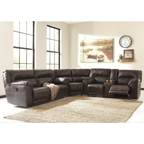 Benchcraft Barrettsville DuraBlend® 3-Piece Power Reclining Sectional