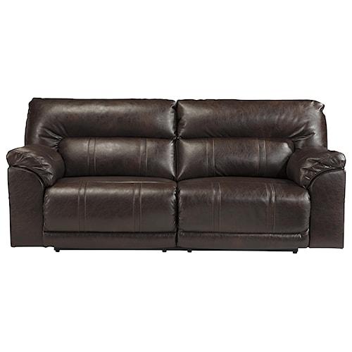 Benchcraft Barrettsville DuraBlend® Bonded Leather Match 2 Seat Reclining Power Sofa