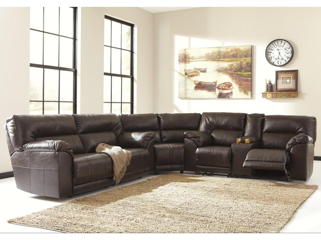 Benchcraft Barrettsville DuraBlend®3-Piece Reclining Sectional