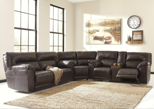Review Benchcraft Barrettsville DuraBlend 3 Piece Reclining Sectional Top Search - Amazing Reclining sofa Sectional Lovely
