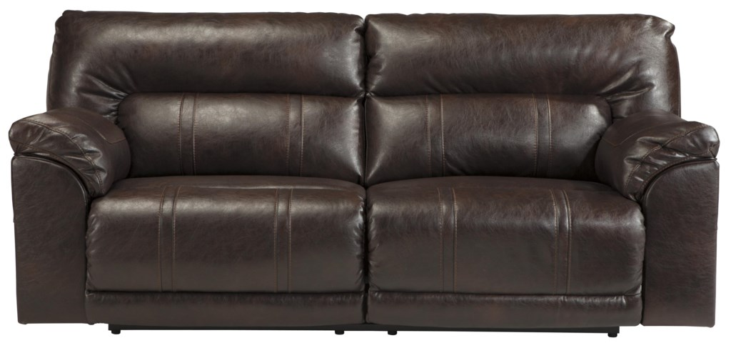 Benchcraft By Ashley Barrettsville Durablend Bonded Leather Match  ~ Leather Dual Reclining Sofa