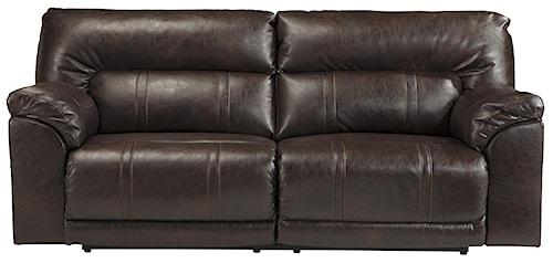 Benchcraft Barrettsville DuraBlend® Bonded Leather Match 2 Seat Reclining Sofa