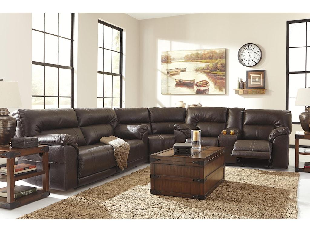 Benchcraft Barrettsville DuraBlend®2 Seat Reclining Sofa