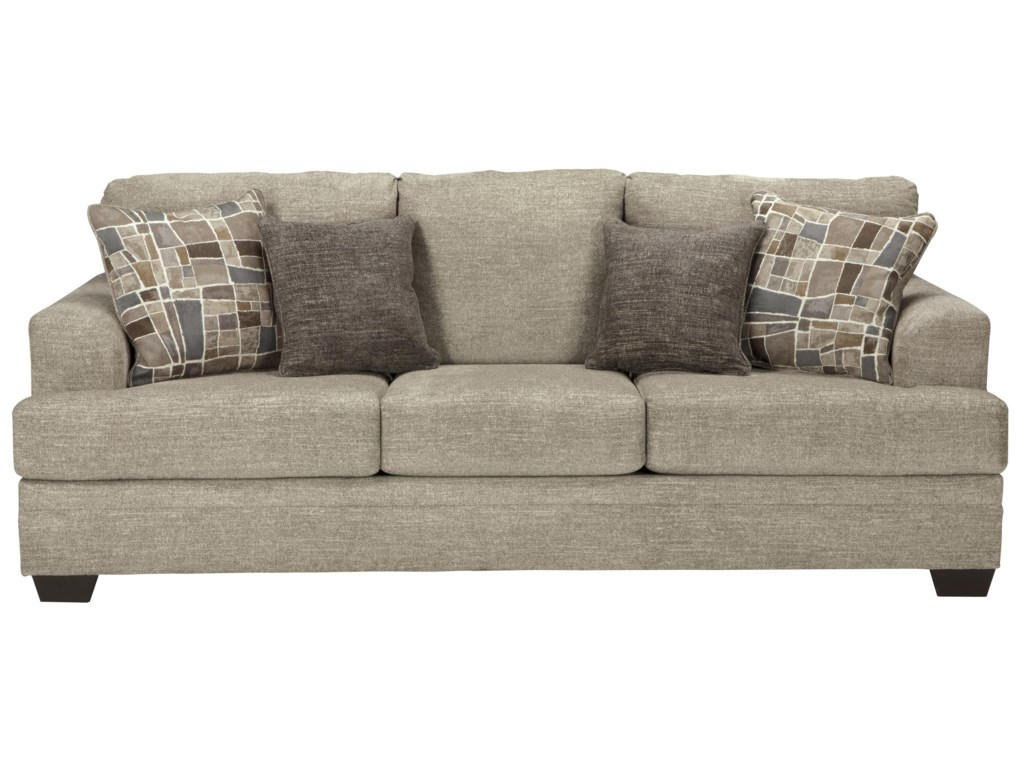 Benchcraft Barrish Contemporary Sofa With Flared Arms Value City Furniture