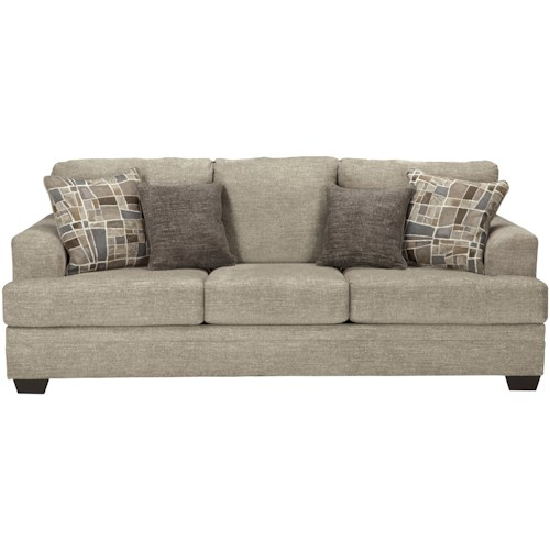 Benchcraft Barrish Contemporary Sofa with Flared Arms