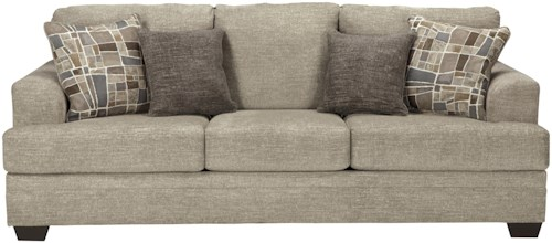 Benchcraft Barrish Contemporary Queen Sofa Sleeper with Flared Arms