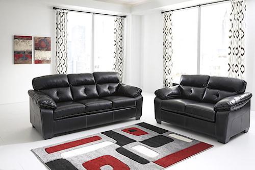 Benchcraft Bastrop DuraBlend - Midnight Stationary Living Room Group