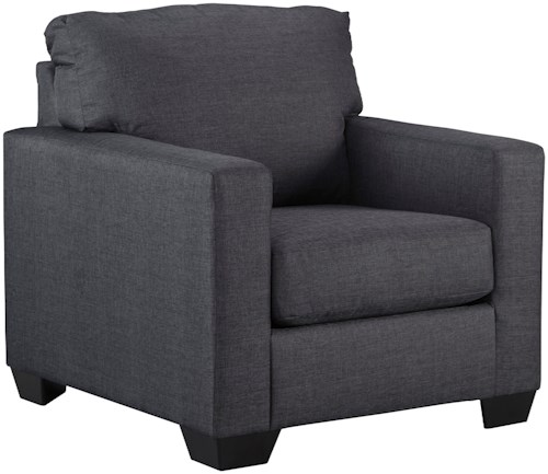 Benchcraft Bavello Contemporary Chair with Track Arms