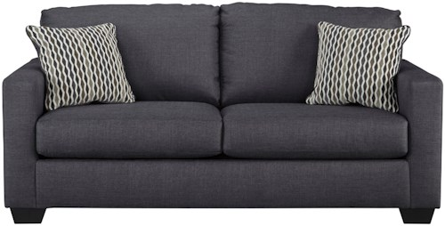 Benchcraft Bavello Contemporary Full Sofa Sleeper with Memory Foam Mattress & Track Arms