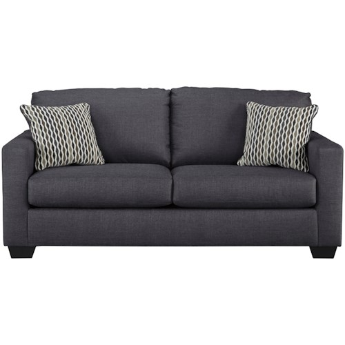 Benchcraft Bavello Contemporary Full Sofa Sleeper With Memory Foam Mattress Track Arms