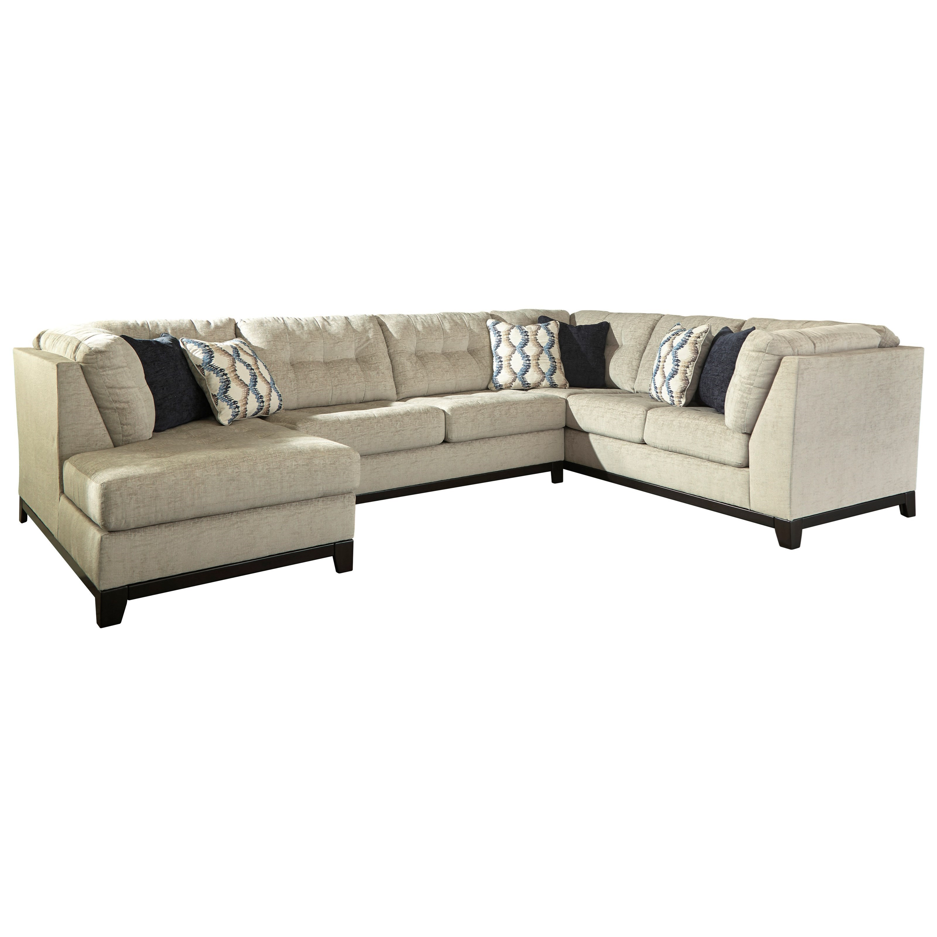 Benchcraft By Ashley Beckendorf 3 Piece Sectional With Left Chaise | Royal  Furniture | Sectional Sofas