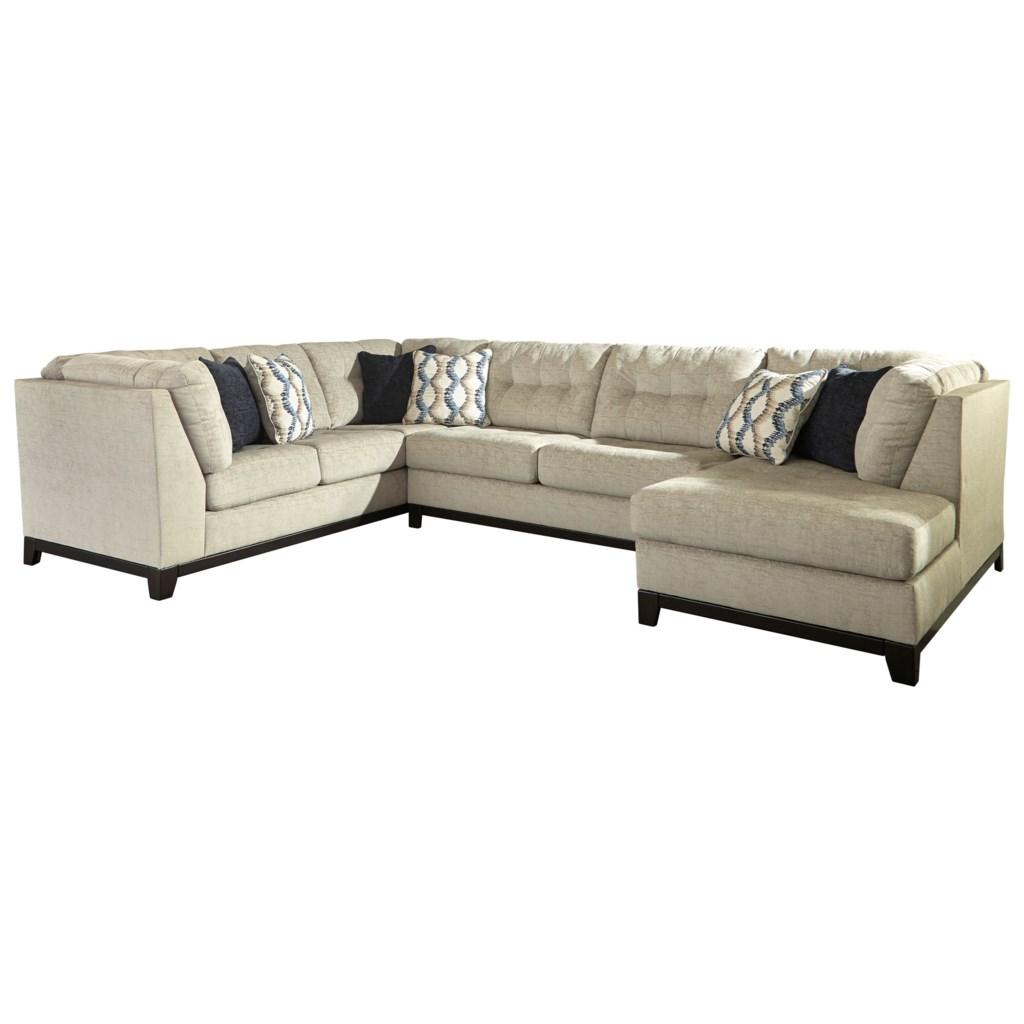 Benchcraft Beckendorf 3 Piece Sectional with Right Chaise