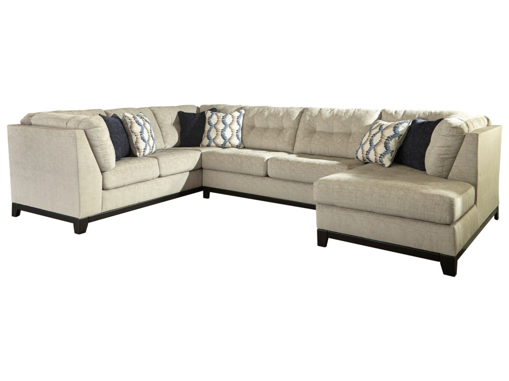 3 piece sectional sofas england collegedale contemporary 3 for Brighton taupe 3 piece chaise and sofa set