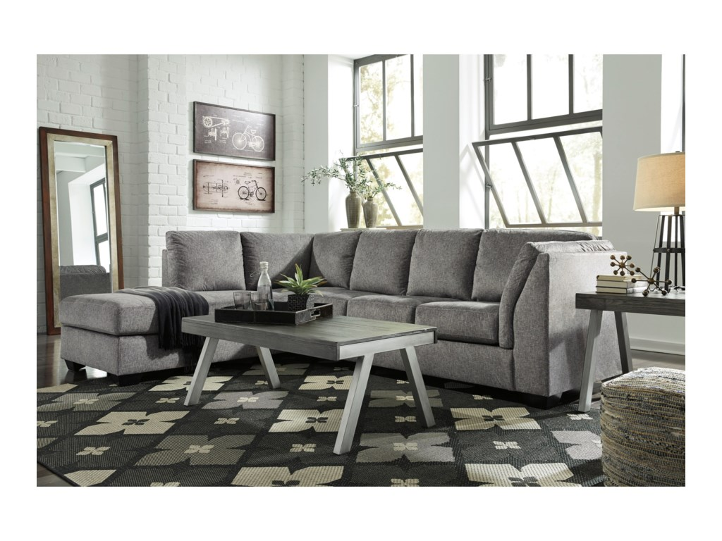 Benchcraft Belcastel2-Piece Sectional with Chaise & Sleeper