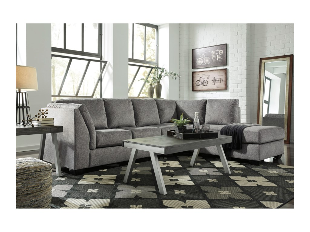 Benchcraft Belcastel2-Piece Sectional with Chaise
