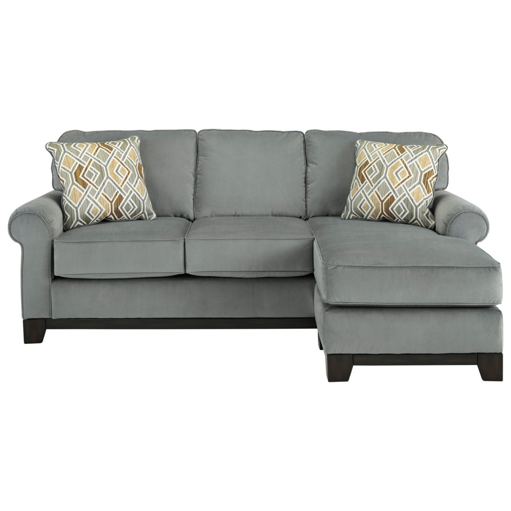 Benchcraft By Ashley Benld Contemporary Queen Sofa Chaise Sleeper  ~ Sleeper Sofa Memory Foam