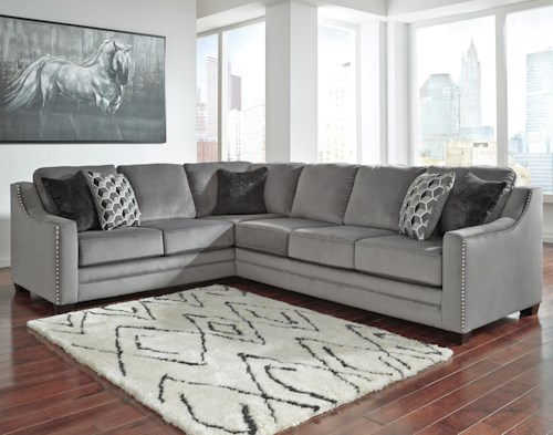 Benchcraft Bicknell Contemporary 2-Piece Sectional with Right Sofa