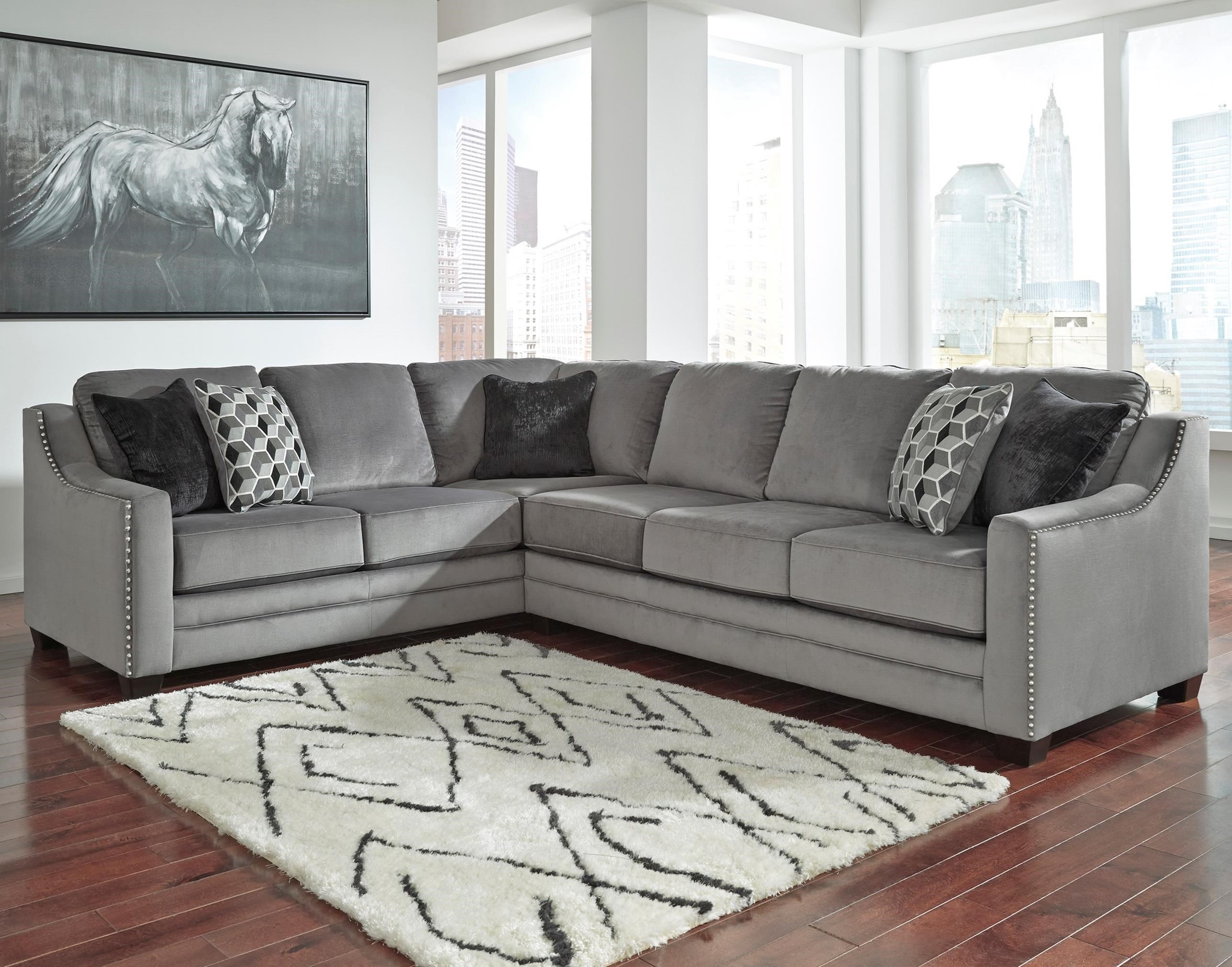 Gentil Benchcraft Bicknell2 Piece Sectional With Right Sofa ...