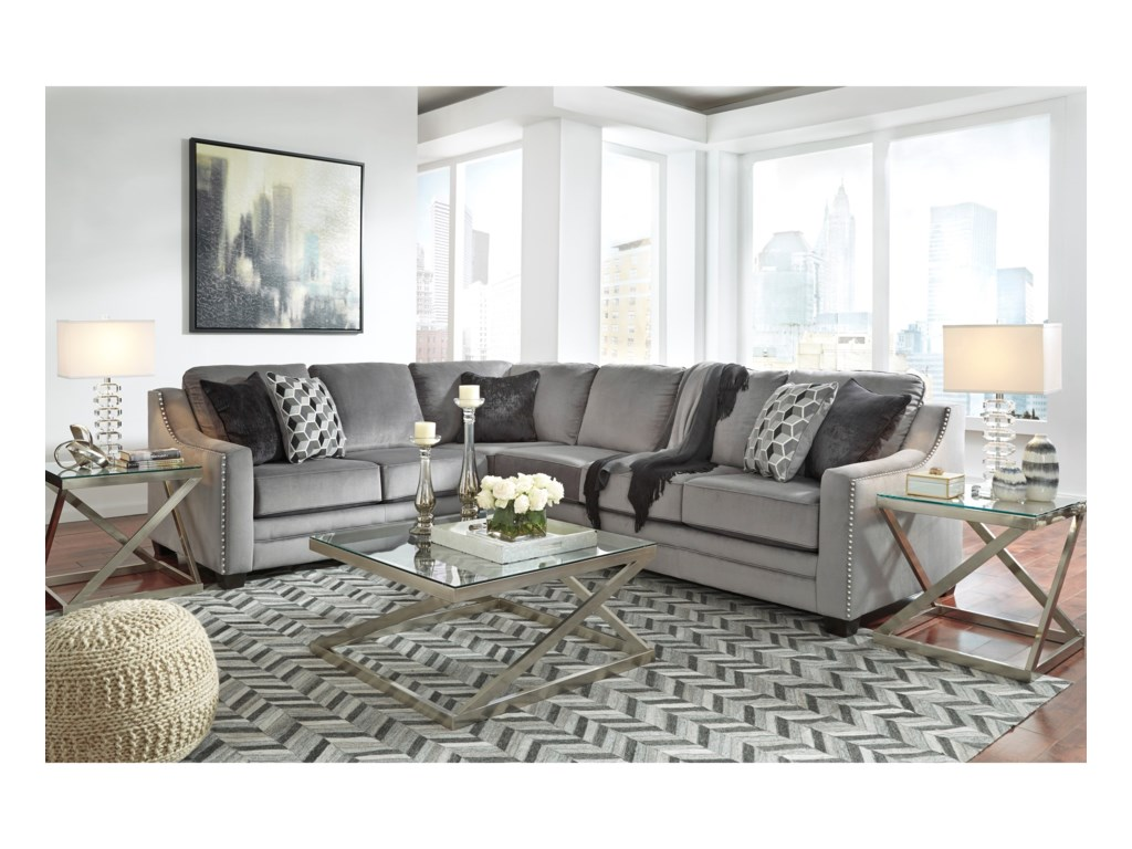 Benchcraft Bicknell2-Piece Sectional with Right Sofa
