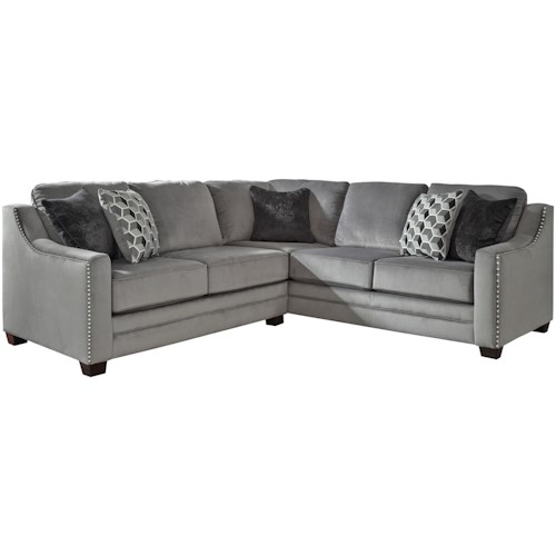 Benchcraft Bicknell Contemporary 2-Piece Sectional with Left Loveseat
