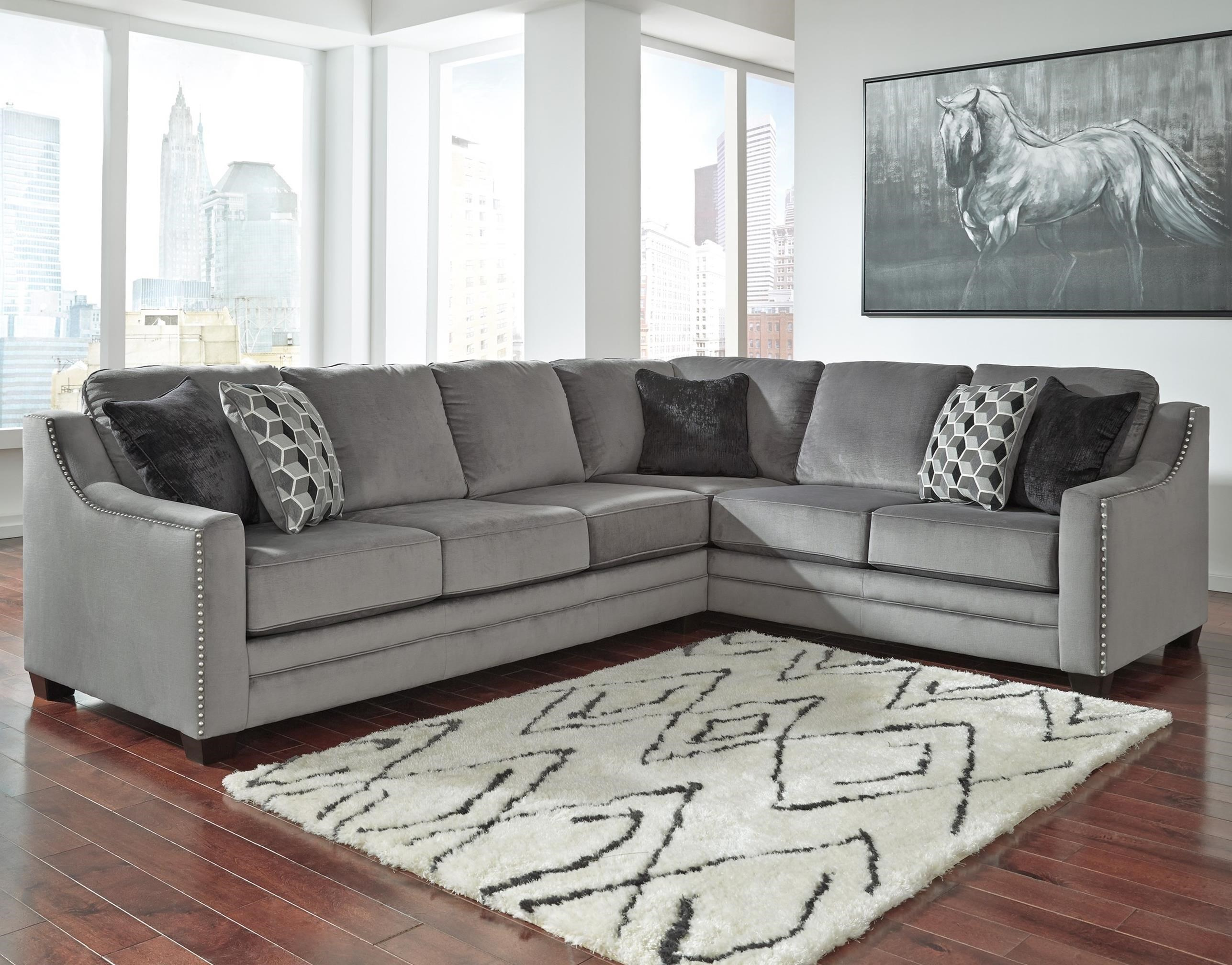 Benchcraft Bicknell Contemporary 2 Piece Sectional With Left Sofa
