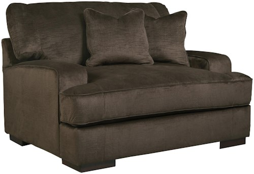 Benchcraft Bisenti Contemporary Chair and a Half with UltraPlush Cushion