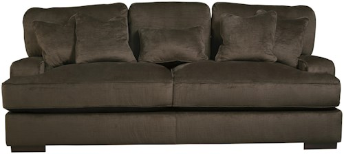 Benchcraft Bisenti Contemporary Sofa with UltraPlush Cushions