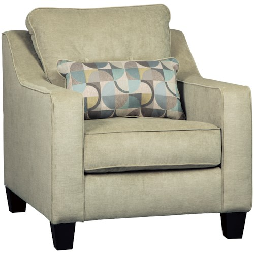 Benchcraft Bizzy Mid-Century Modern Style Chair with Kidney Pillow