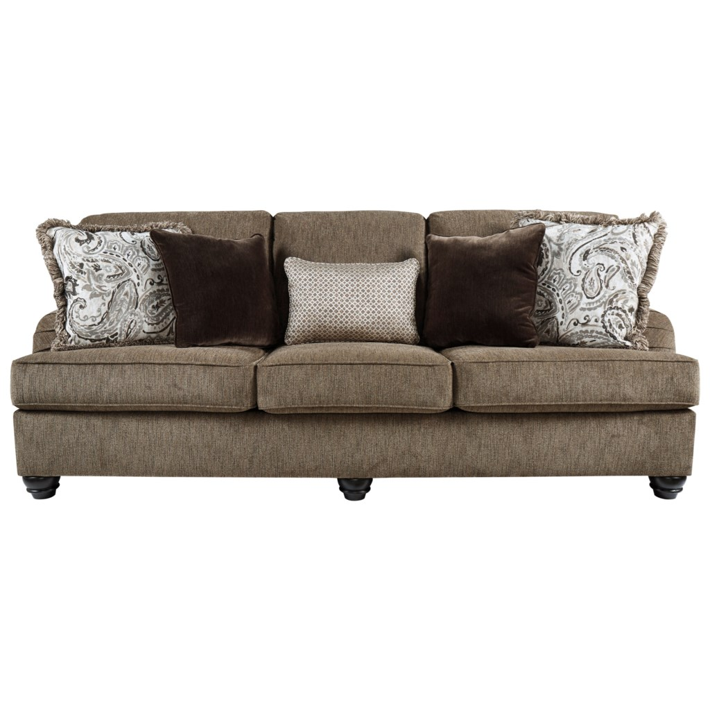 Braemar Transitional Queen Sofa Sleeper With English Arms By Benchcraft At Dunk Bright Furniture