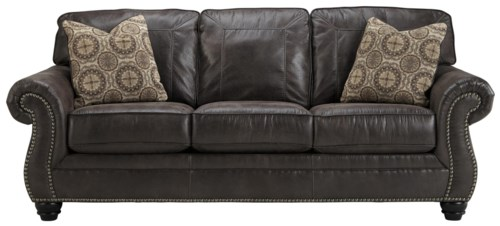 Luxury Benchcraft Breville Faux Leather Sofa with Rolled Arms and Nailhead Trim Simple - Simple nailhead leather sofa Inspirational