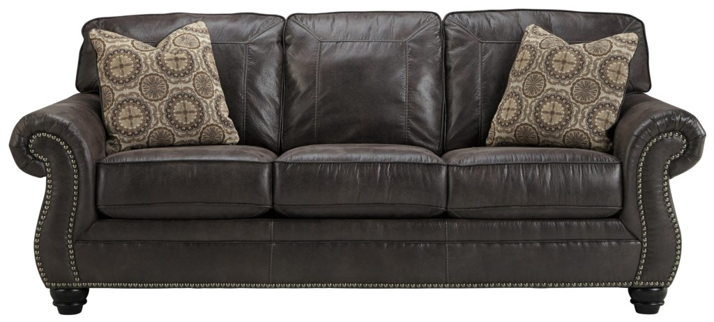 Benchcraft Breville 8000439 Faux Leather Queen Sofa Sleeper With
