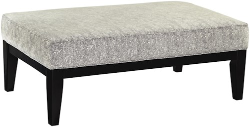 Benchcraft Brielyn Contemporary Rectangular Oversized Accent Ottoman with Wood Legs