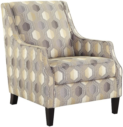 Benchcraft Brielyn Accent Chair with Geometric Fabric