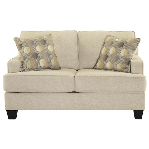 Benchcraft Brielyn Loveseat with Track Arms and T-Style Seat Cushions