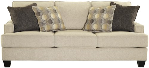 Benchcraft Brielyn Sofa with Track Arms and T-Style Seat Cushions