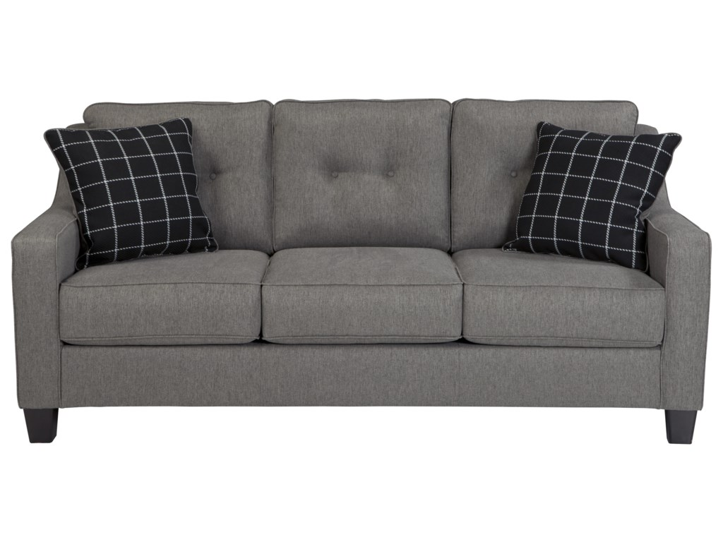 Brindon Contemporary Sofa with Track Arms & Tufted Back by Benchcraft at  Rooms and Rest
