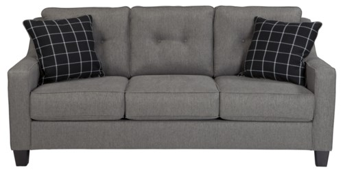 Benchcraft Brindon Contemporary Queen Sofa Sleeper with Track Arms