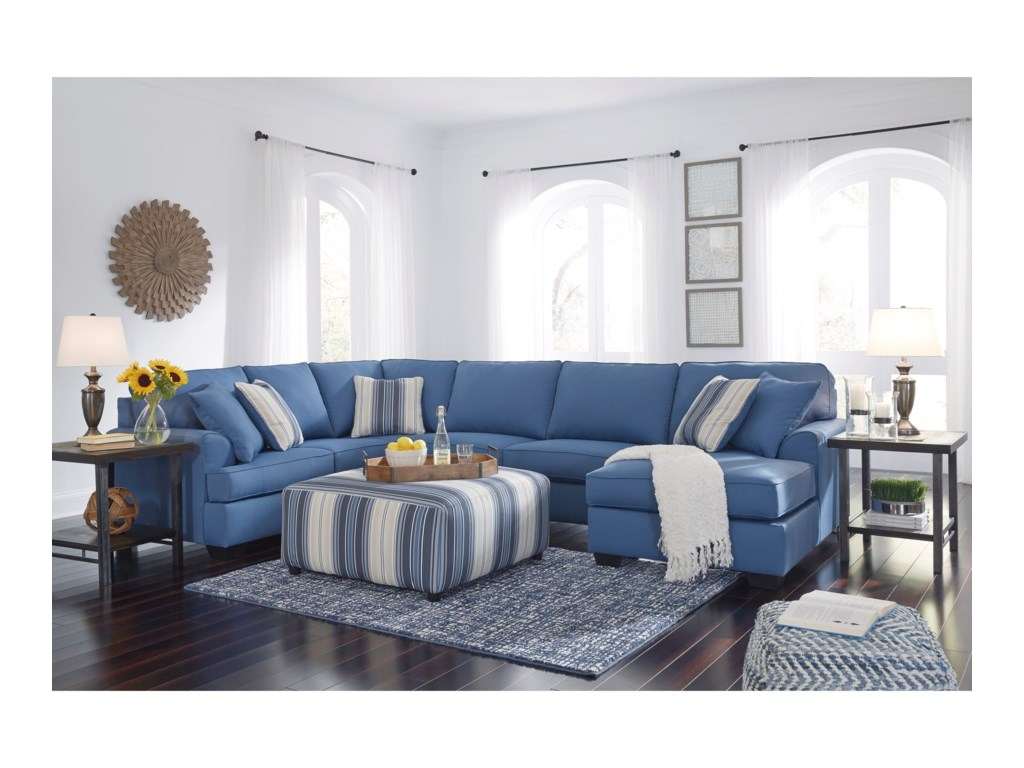 Benchcraft by Ashley Brioni Nuvella Stationary Living Room Group ...