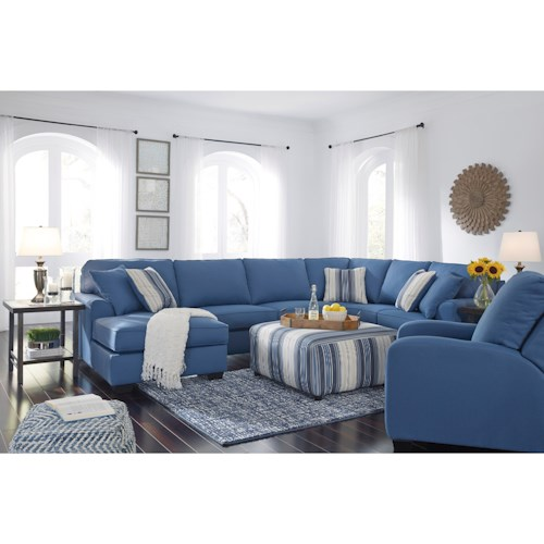 Benchcraft Brioni Nuvella Stationary Living Room Group