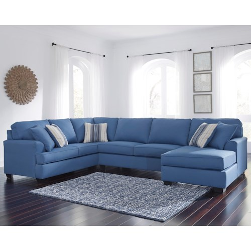 Benchcraft Brioni Nuvella Performance Fabric Sectional with Right Chaise