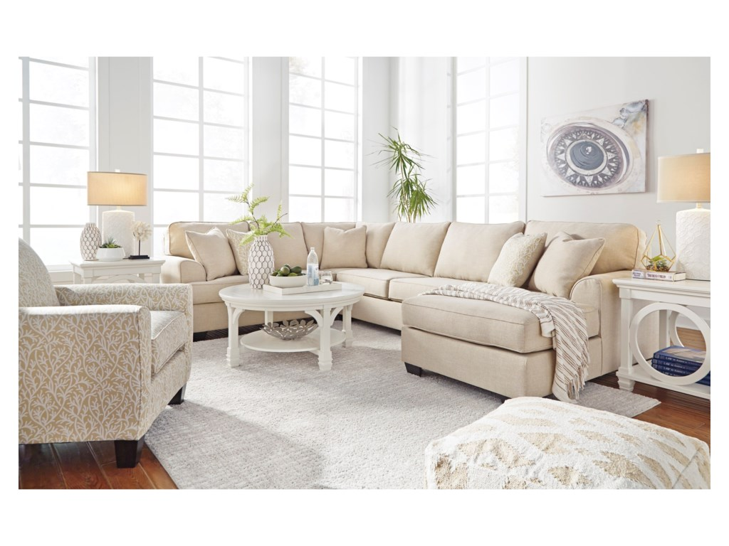 Benchcraft Brioni Nuvella Stationary Living Room Group | Value City ...