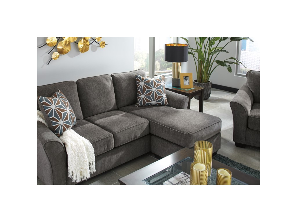 Benchcraft By Ashley Brise Casual Contemporary Sofa Chaise Royal Furniture Sectional Sofas