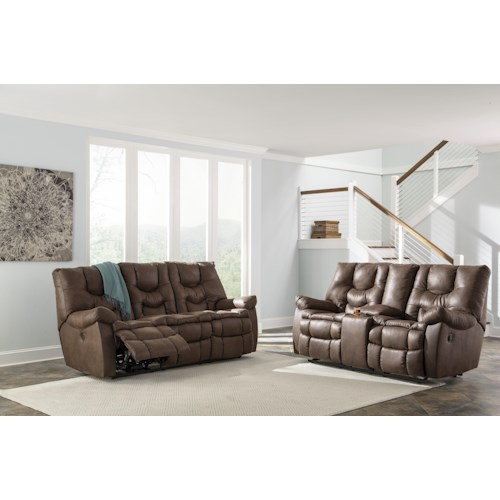 Benchcraft Burgett Reclining Living Room Group