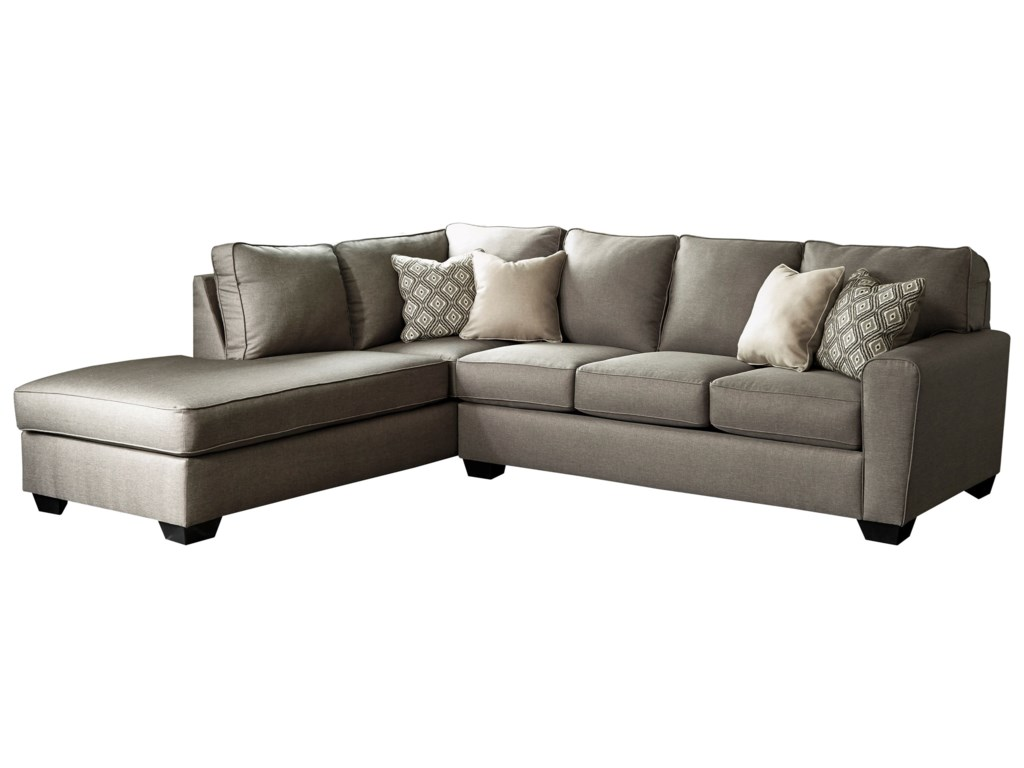 Calicho Contemporary Sectional with Left Chaise by Benchcraft at Fisher  Home Furnishings
